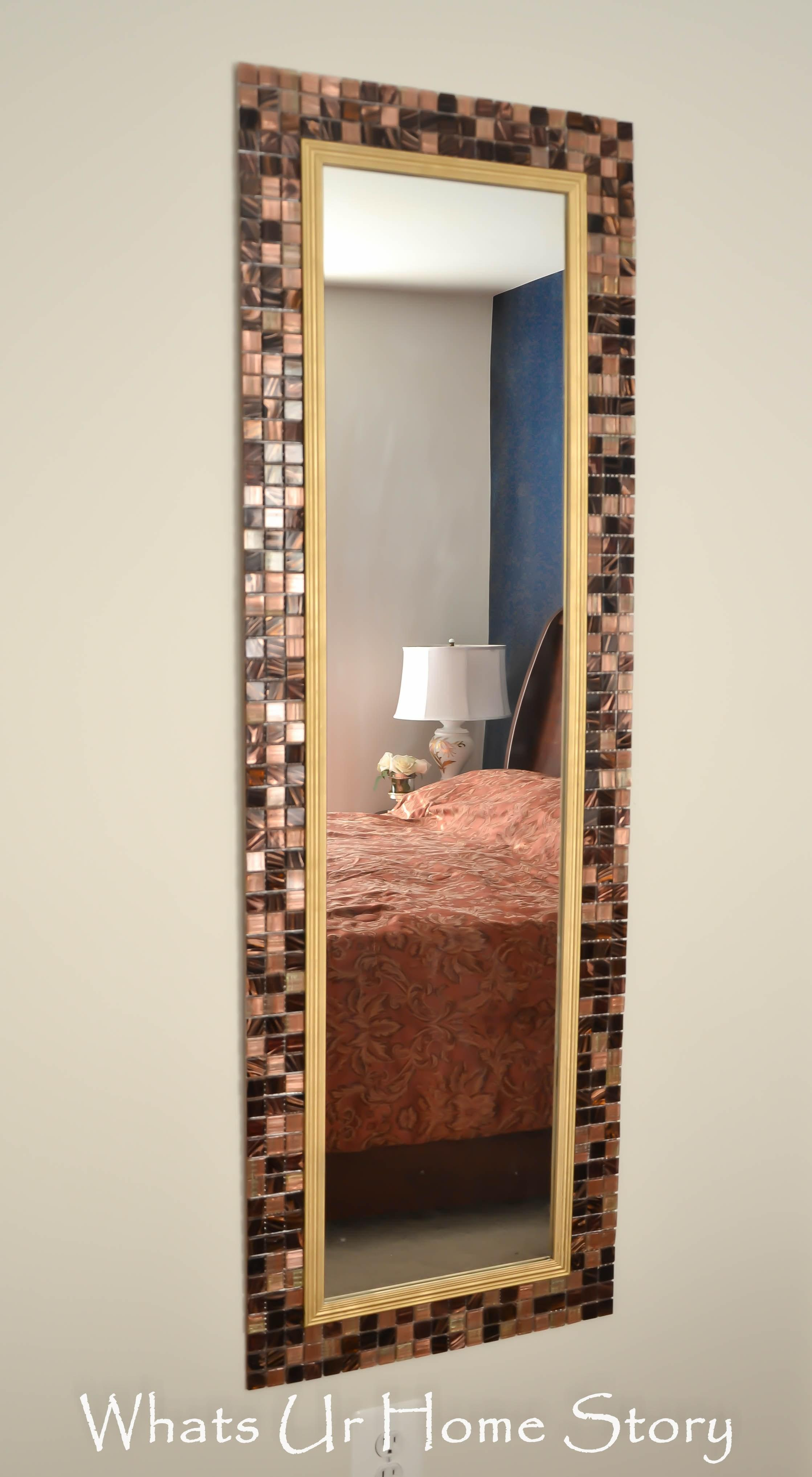 Diy Tile Mirror Whats Home Story