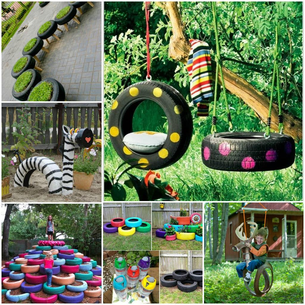 Diy Tire Decoration Ideas Your Garden 1001 Gardens