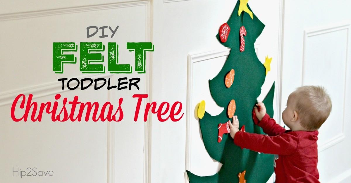 Diy Toddler Felt Christmas Tree Hip2save