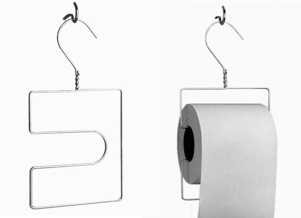 Diy Toilet Paper Holder Wire Hangers Clever