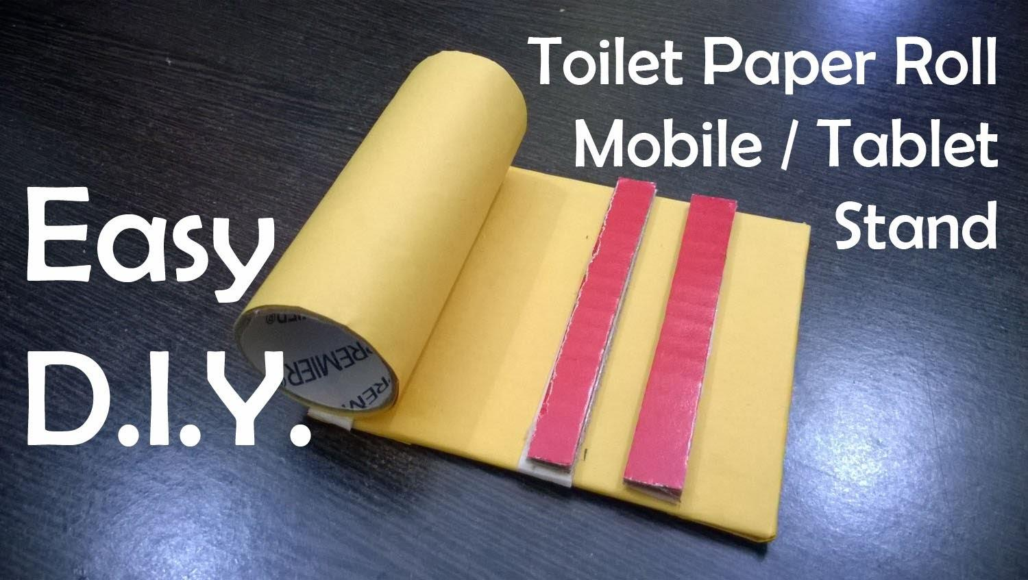 Diy Toilet Paper Roll Mobile Tablet Stand