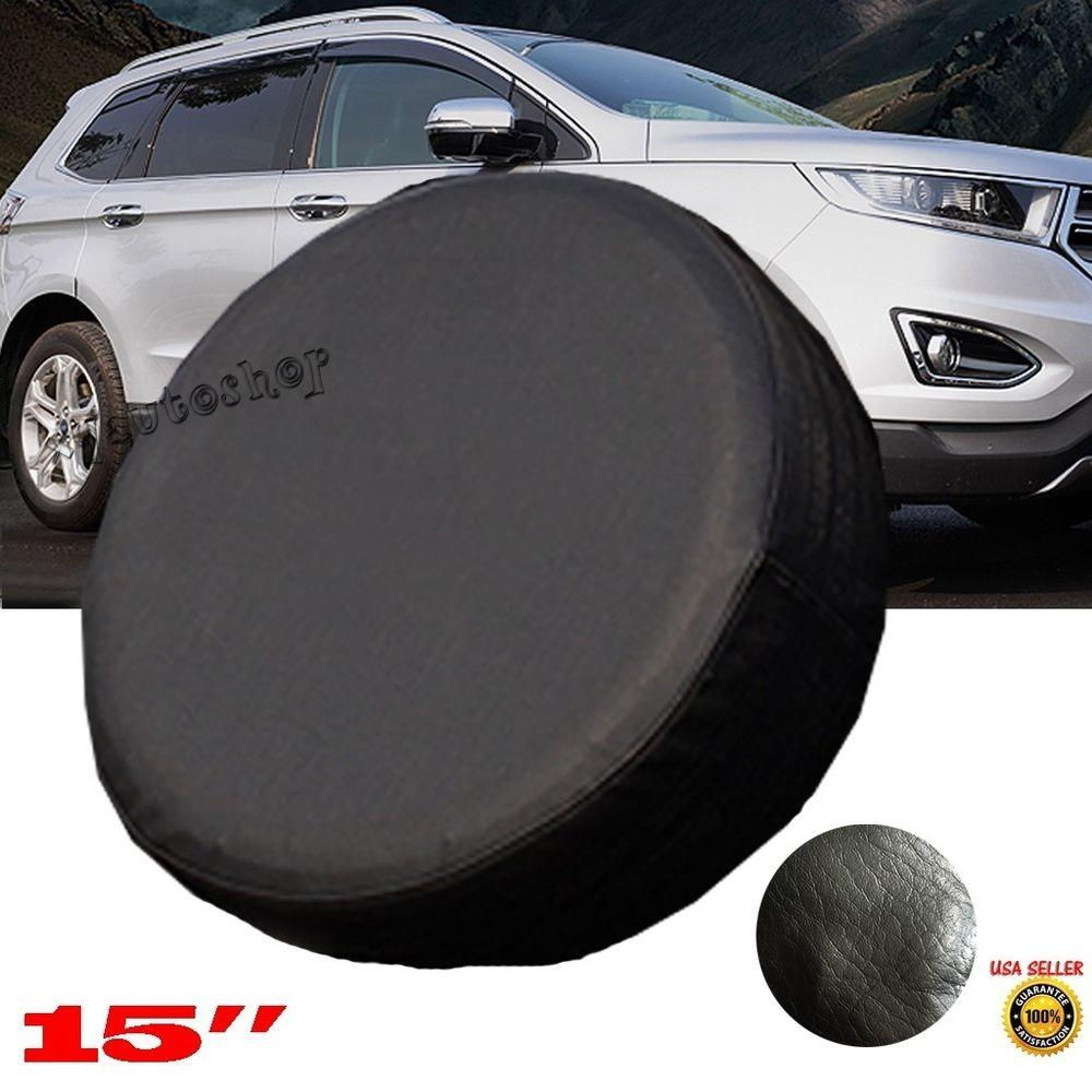 Diy Trailer Spare Tire Tyre Wheel Cover Pure Black Heavy