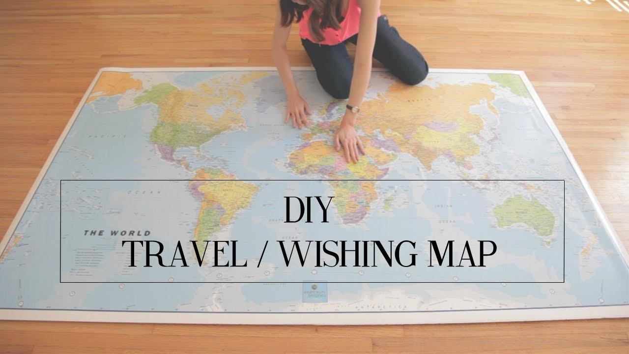 Diy Travel Wishing Map Cathydiep