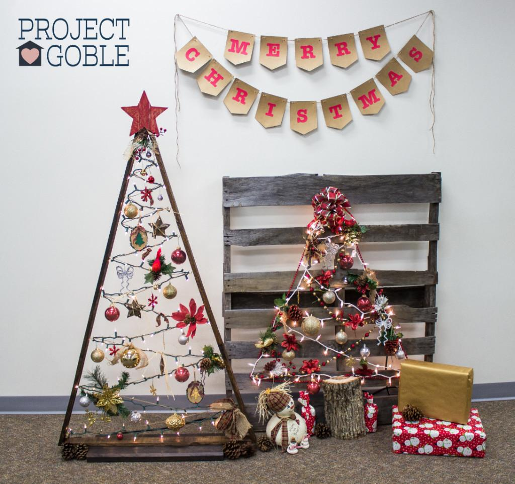 Diy Triangle Pallet Board Christmas Tree Project Goble