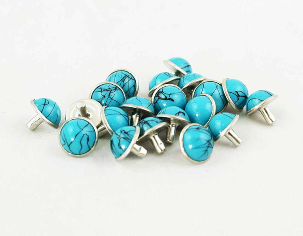 Diy Turquoise Rivets Rapid Shoes Clothes Studs Leather