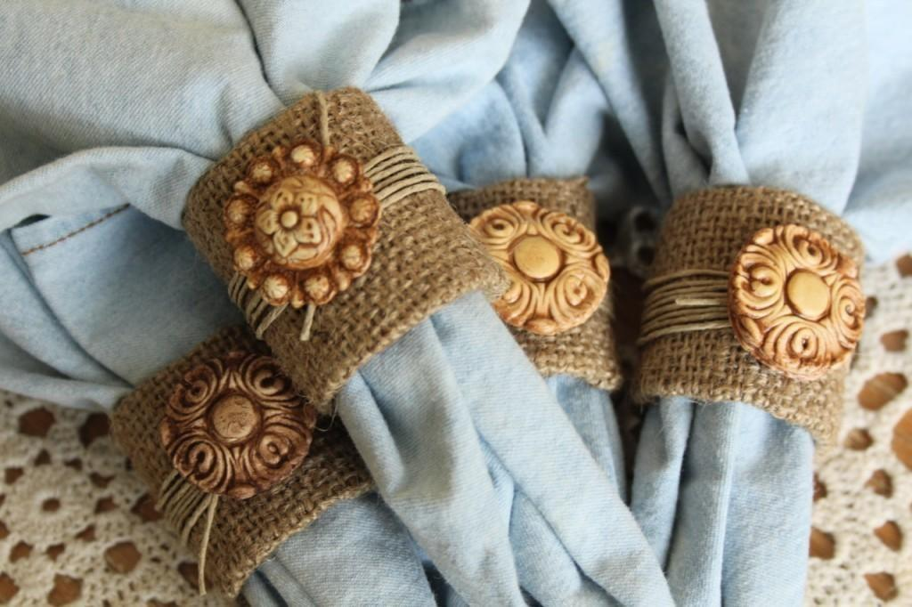 Diy Tutorial Burlap Crafts Fall Napkin Rings