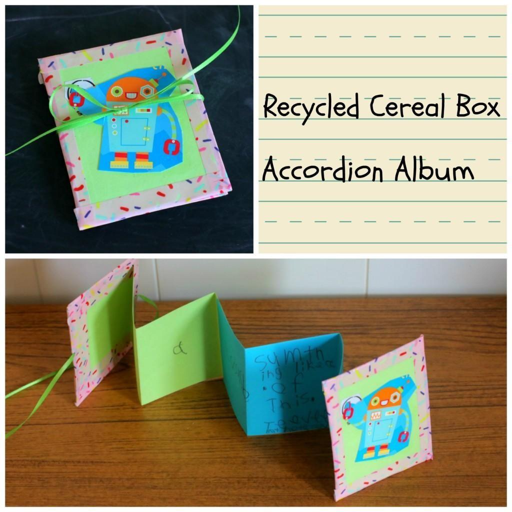 Diy Tutorial Children Cereal Box Accordion