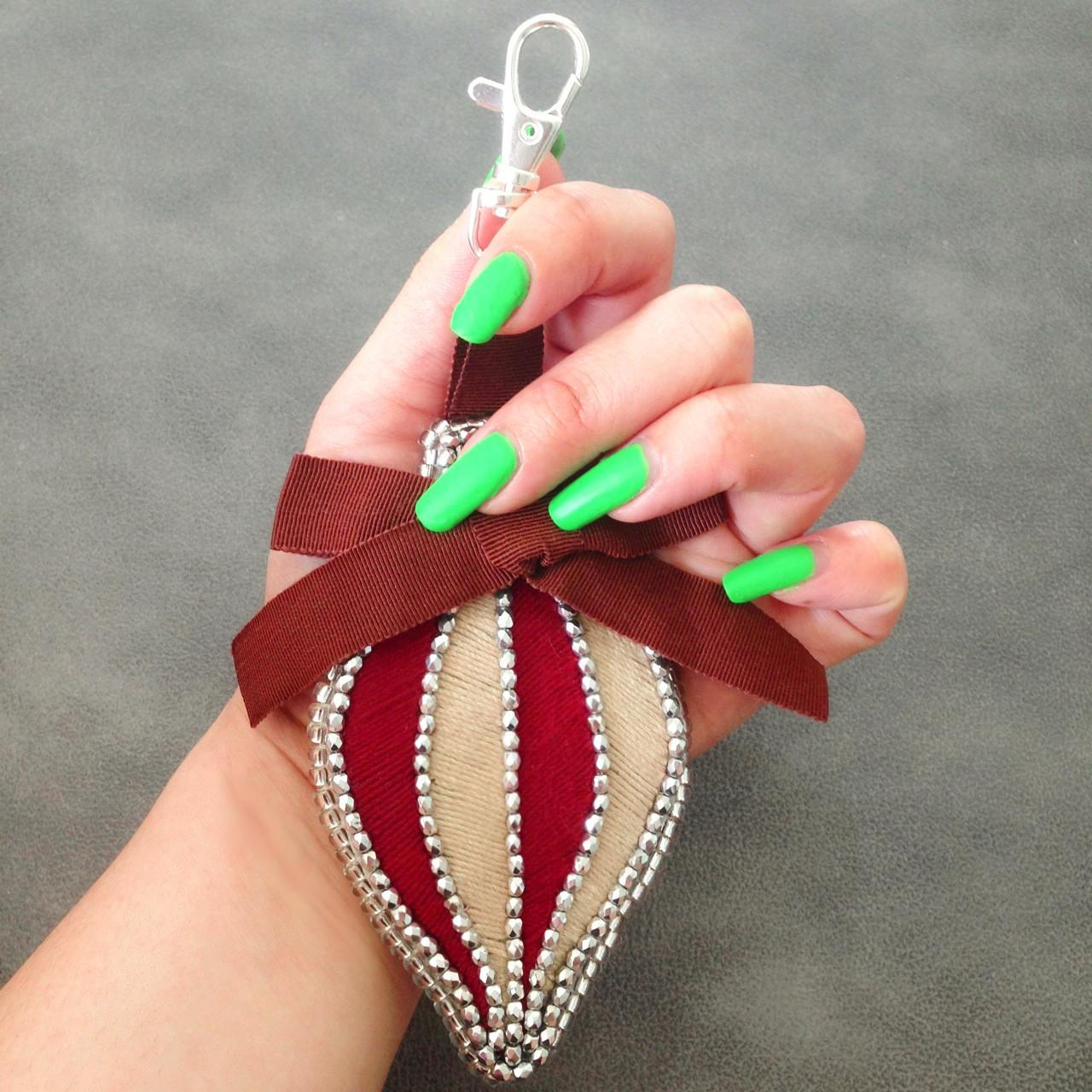 Diy Tutorial Christmas Ornament Bag Charm