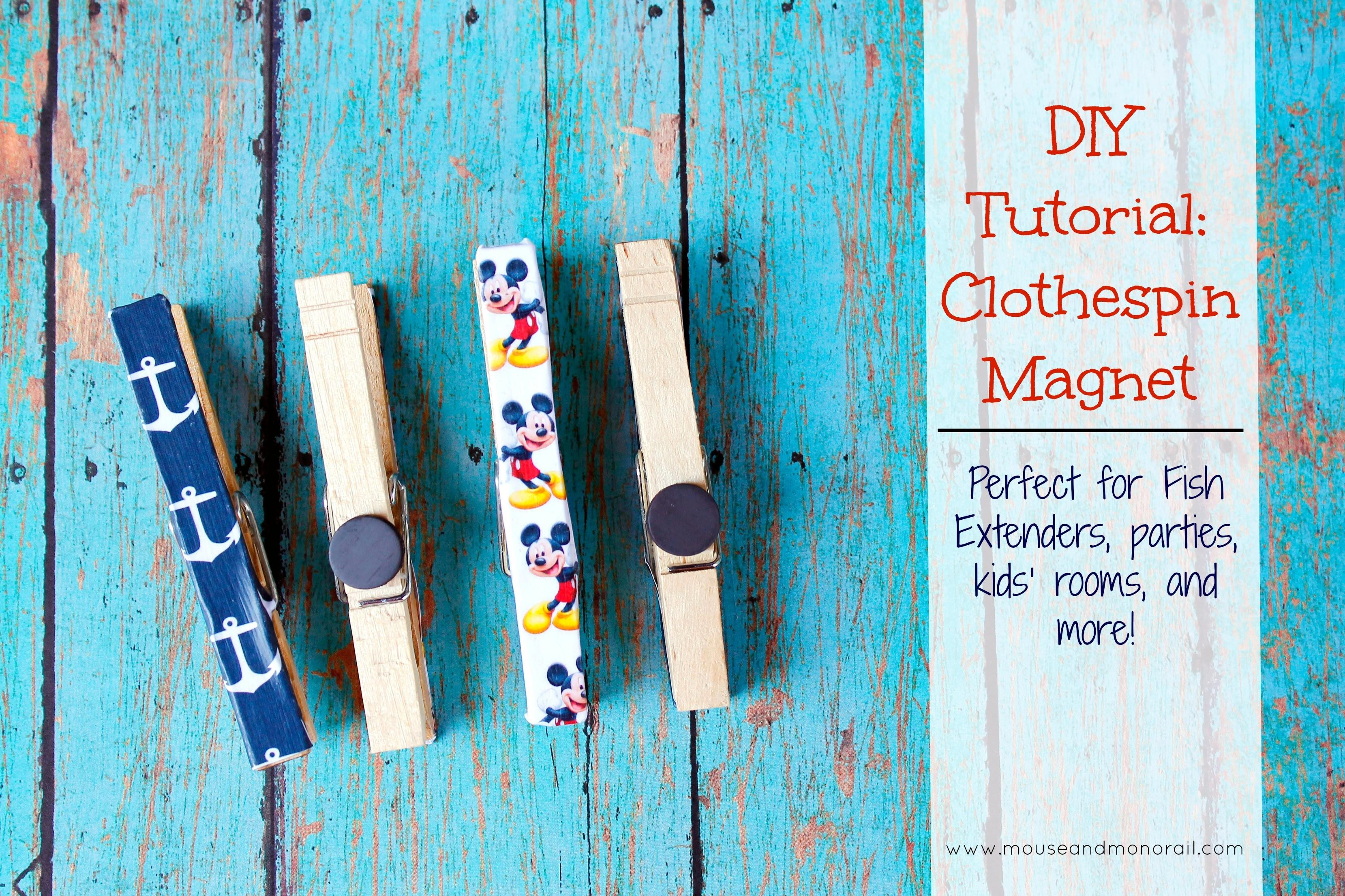 Diy Tutorial Clothespin Magnets Mouse Monorail