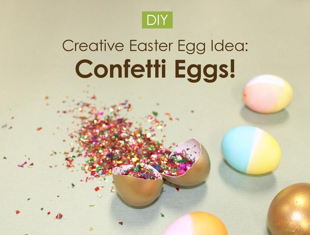 Diy Tutorial Easter Crafts Confetti Eggs Bead