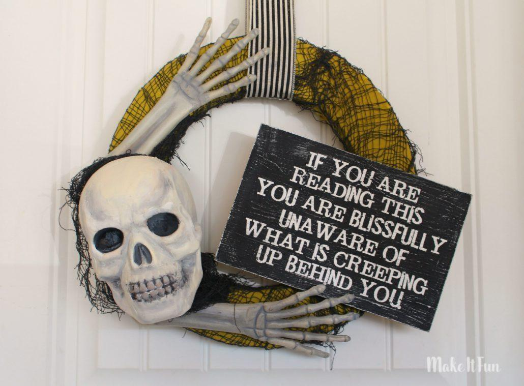 Diy Tutorial Halloween Creepy Skull Wreath