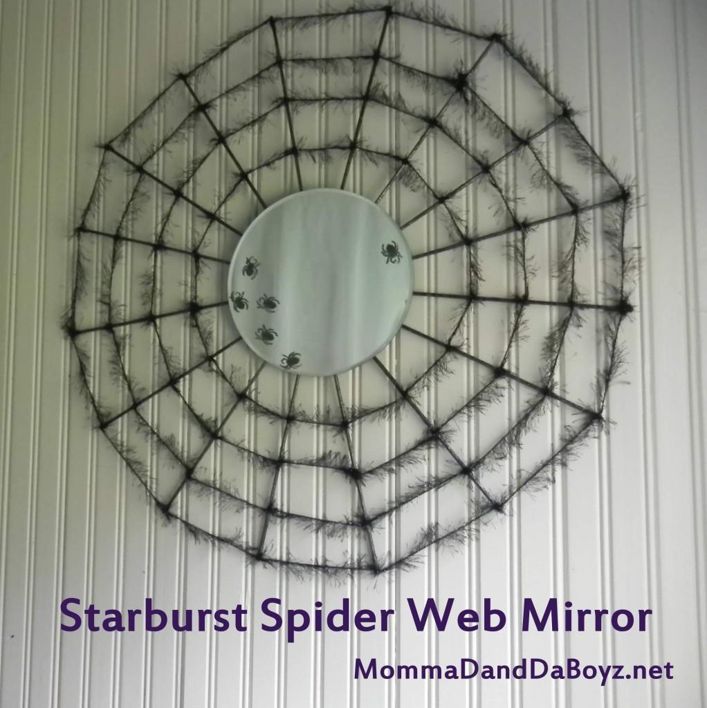 Diy Tutorial Halloween Starburst Spider Web