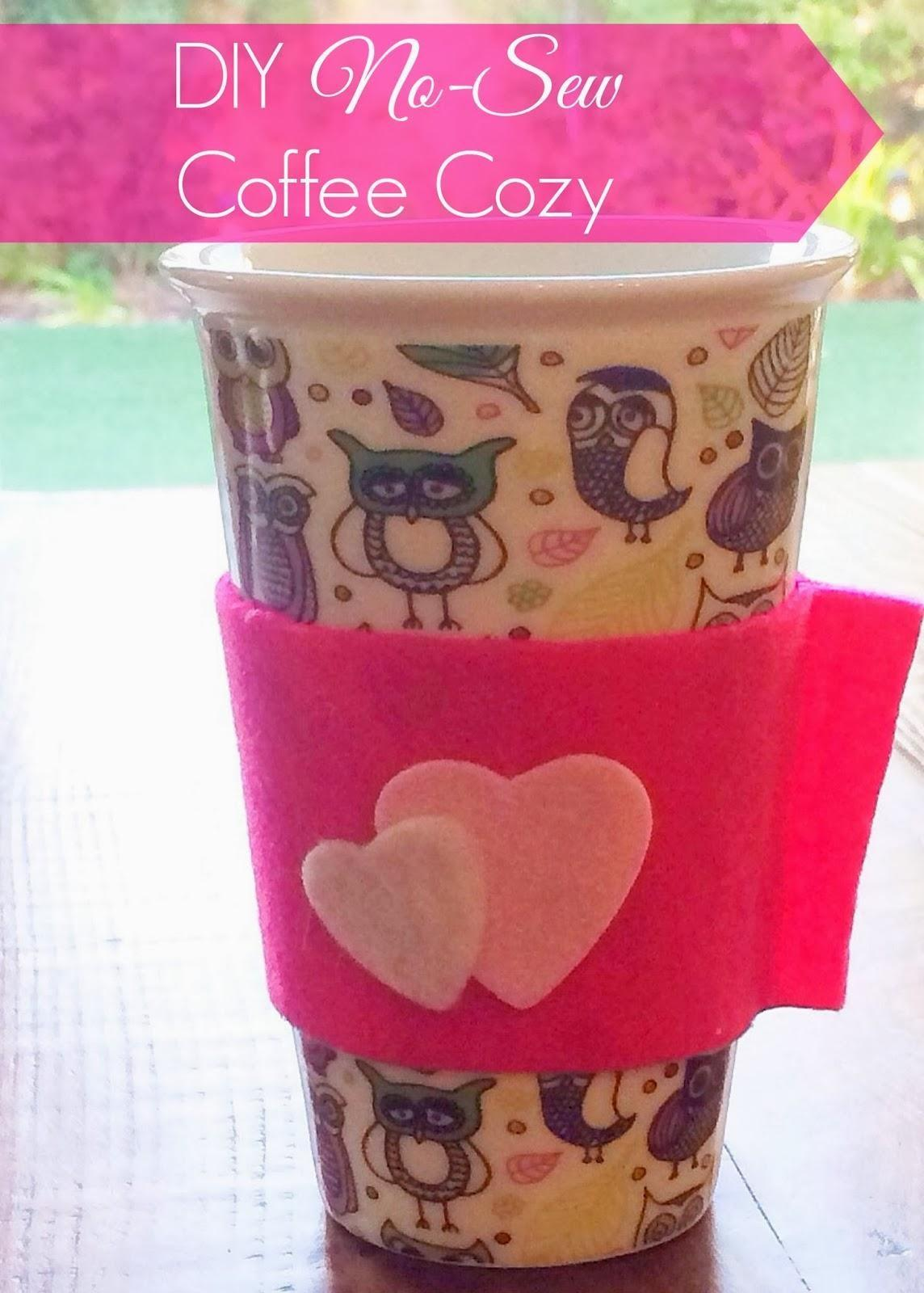 Diy Tutorial Mug Cozy Felt Coffee Bead Cord