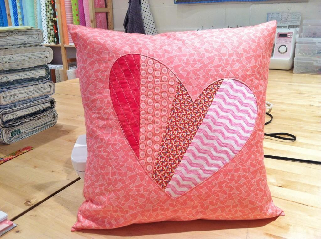 Diy Tutorial Pillow Patchwork Heart