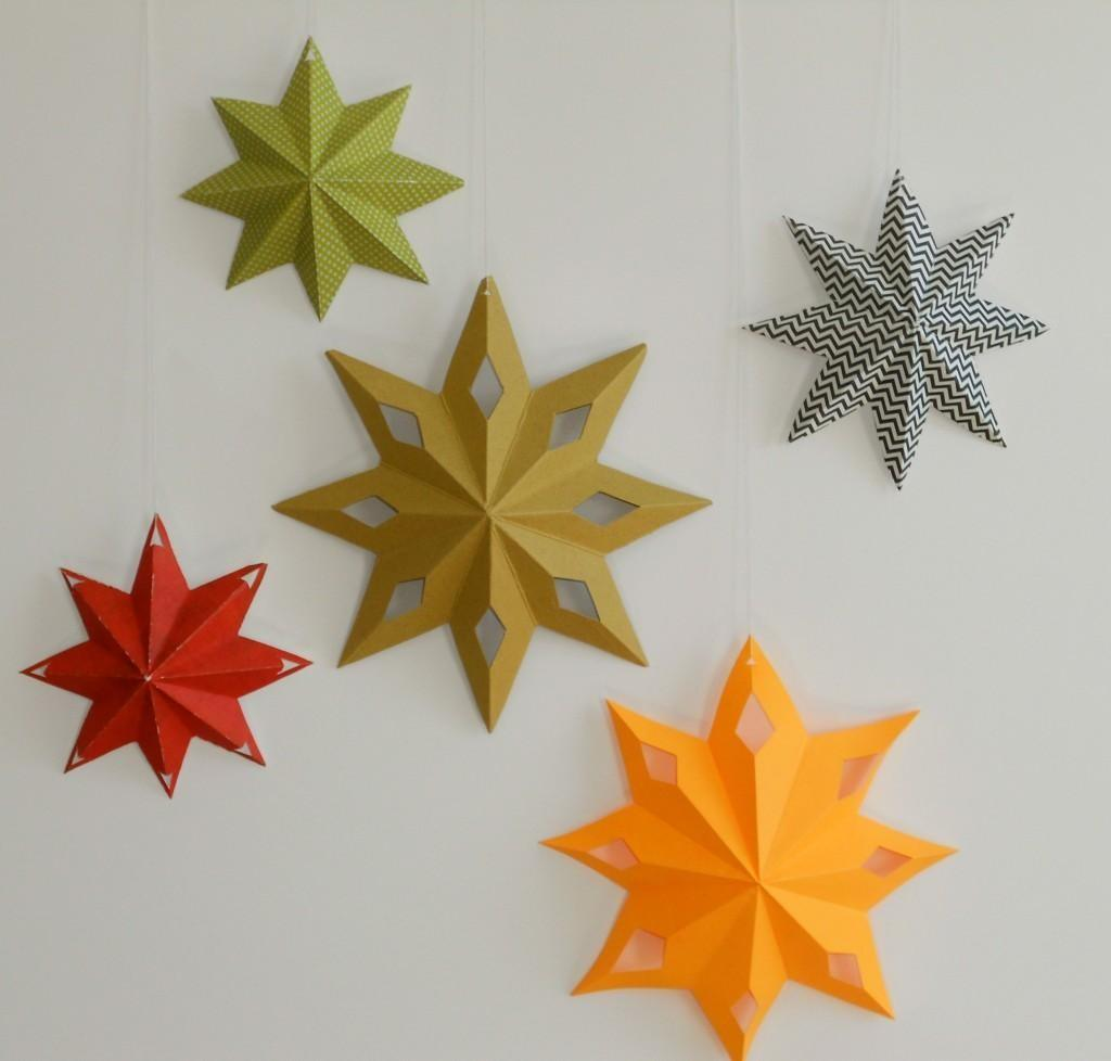 Diy Tutorial Star Paper Decorations Bead Cord
