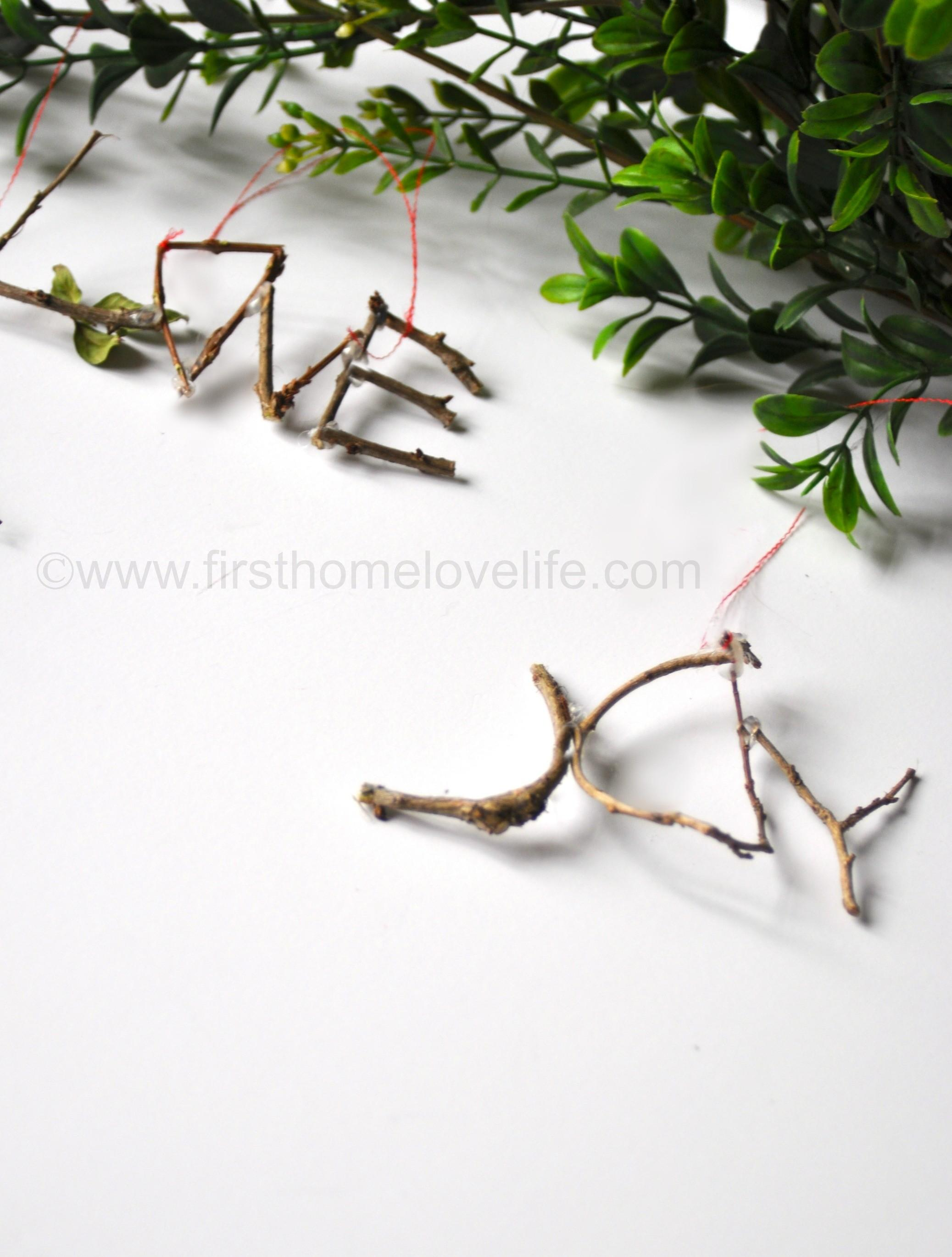 Diy Twig Ornaments First Home Love Life