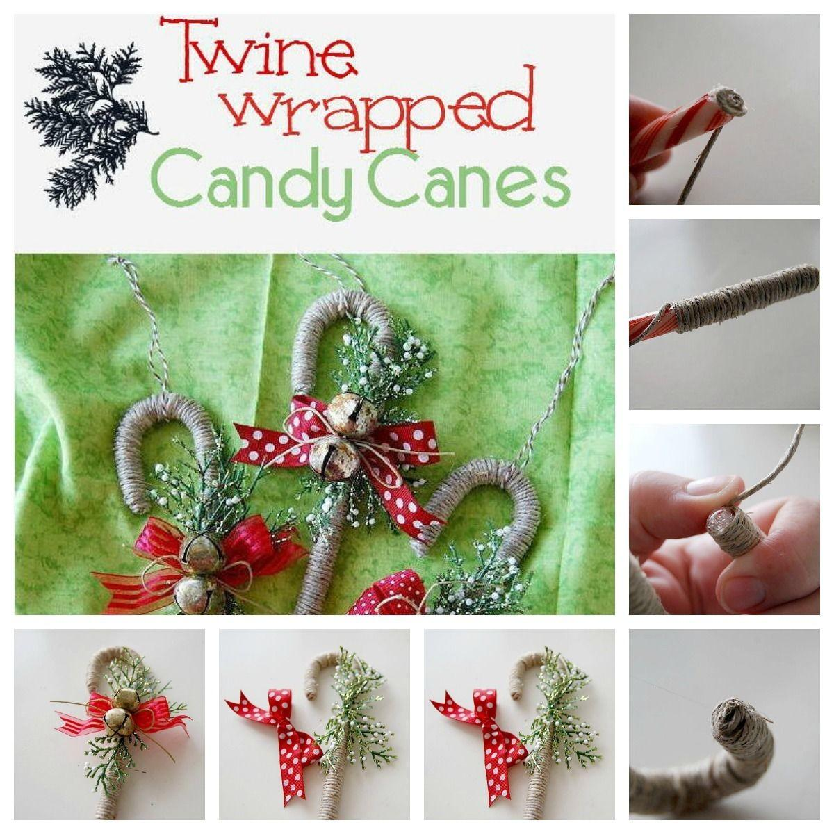 Diy Twine Wrapped Candy Canes Photos
