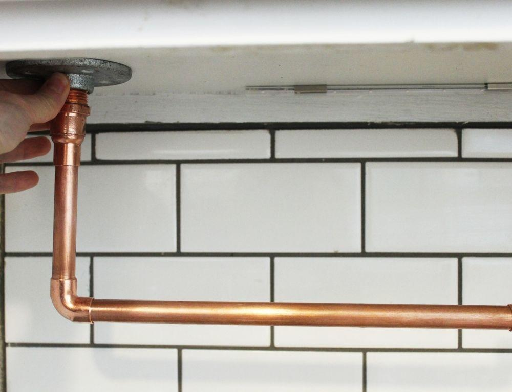 Diy Under Cabinet Hanging Copper Paper Towel Holder