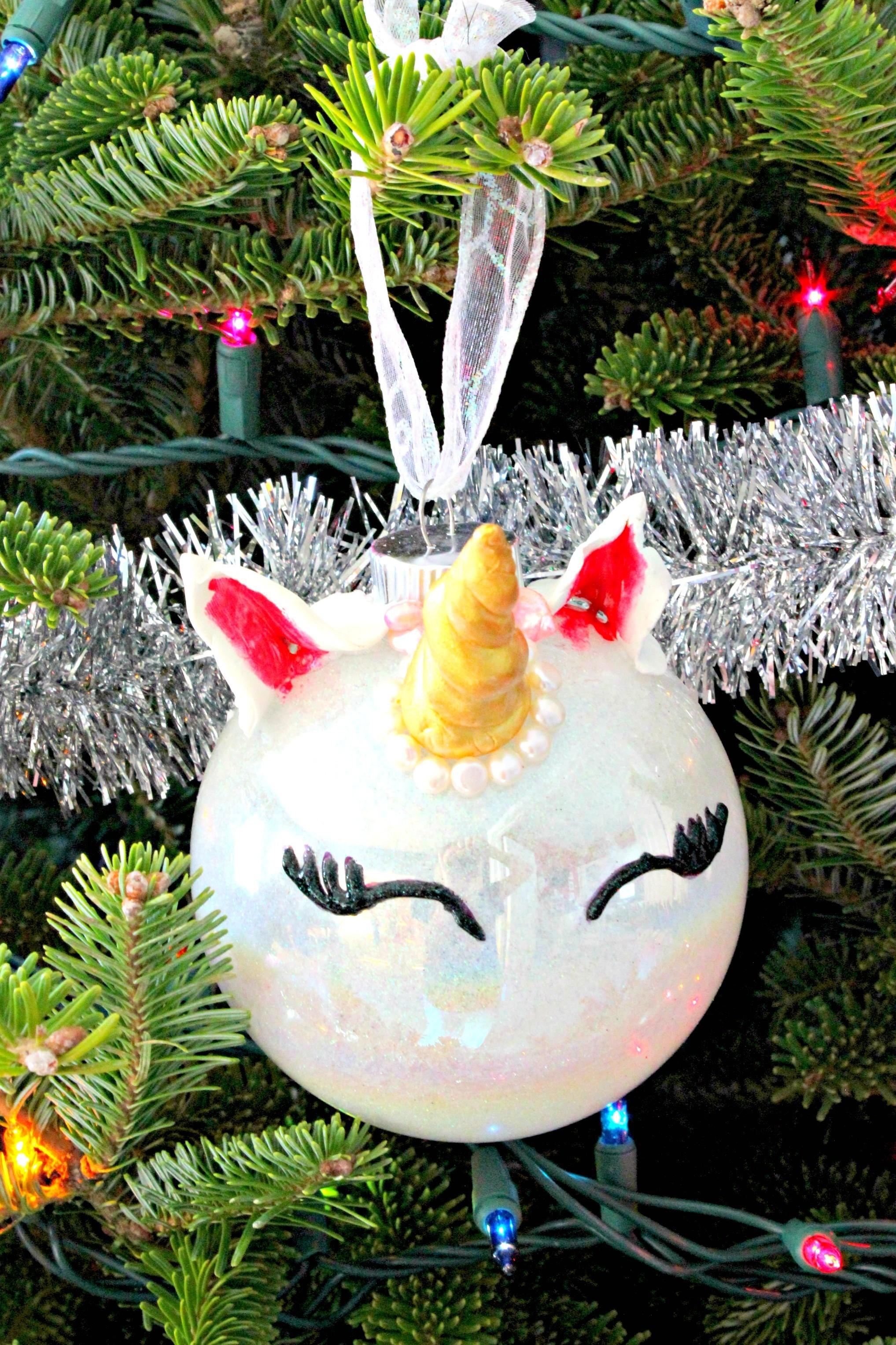 Diy Unicorn Ornament Mon Get Crafty