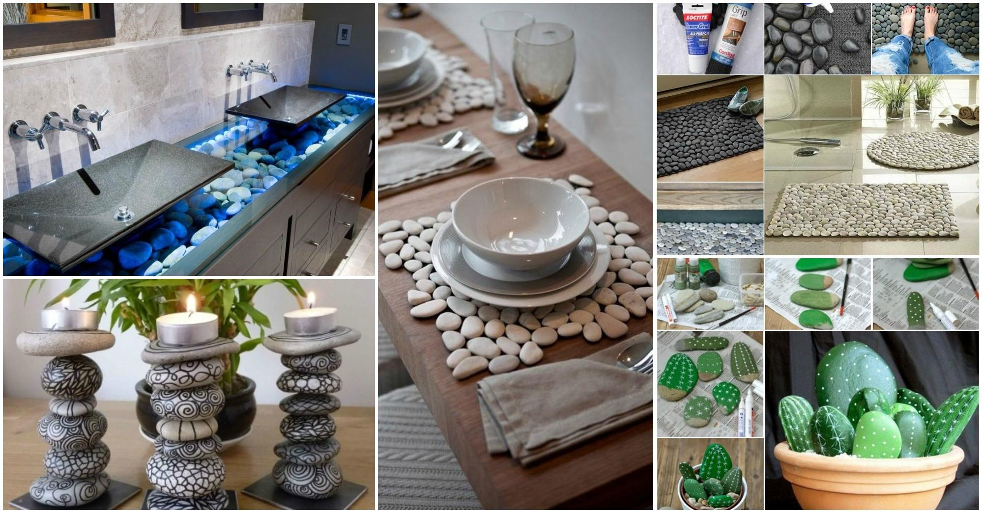 Diy Unimaginable Stone Craft Home Decor Ideas