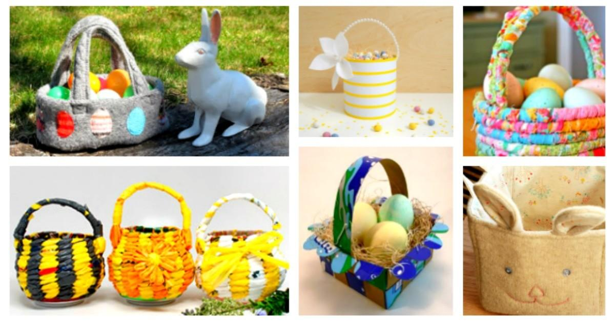 Diy Upcycled Easter Baskets Recycled Materials