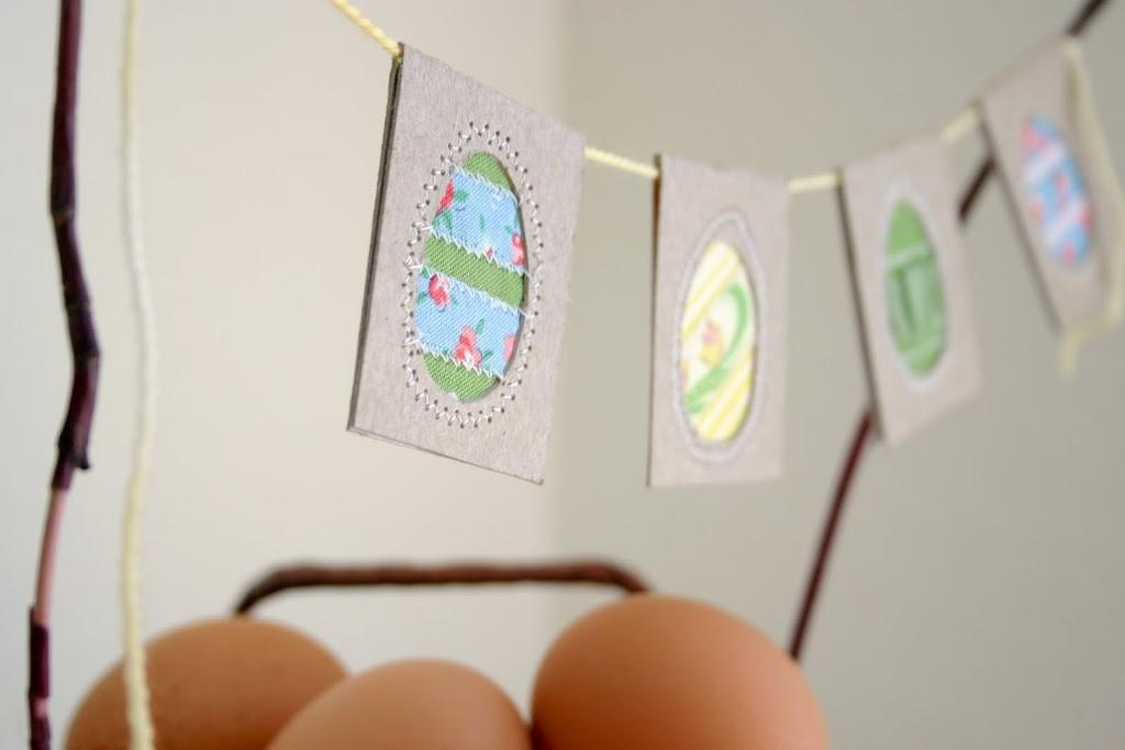 Diy Upcycled Easter Egg Bunting Flax Twine