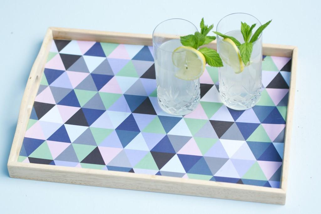 Diy Upcycled Geometric Tray Tutorial Ferm Living Rip