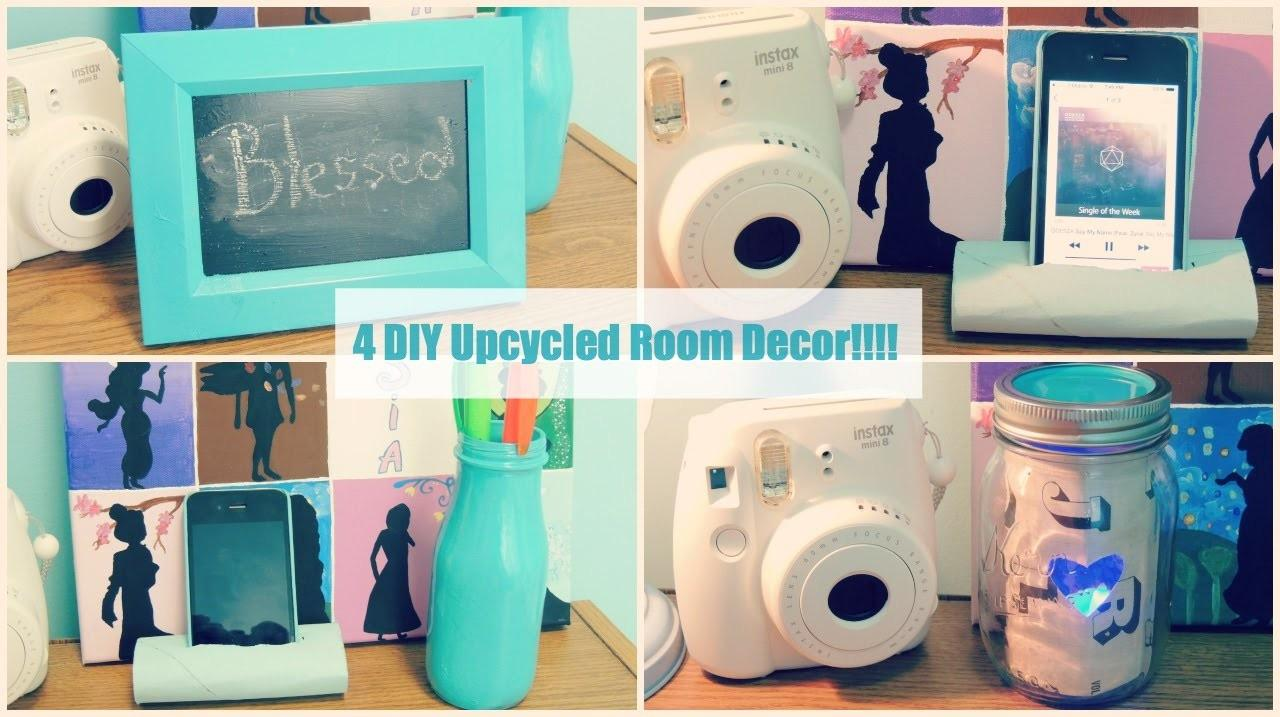 Diy Upcycled Room Organization Decor Tumblr Inspired