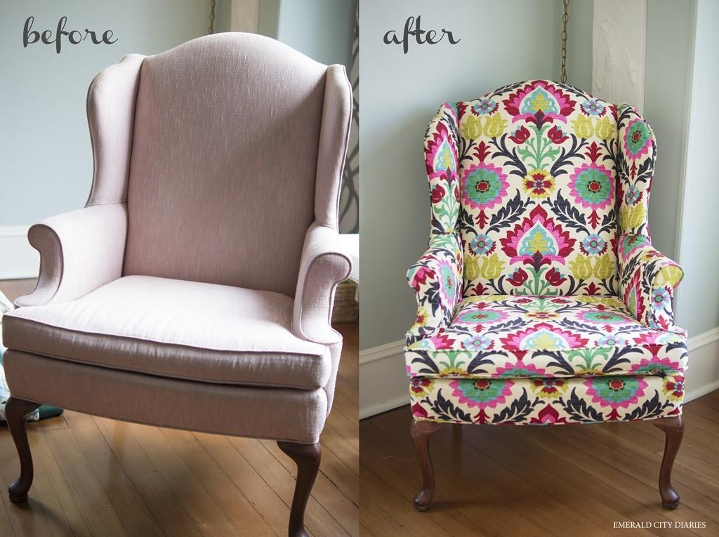 Diy Upholstered Wingback Chair Emerald City Diaries