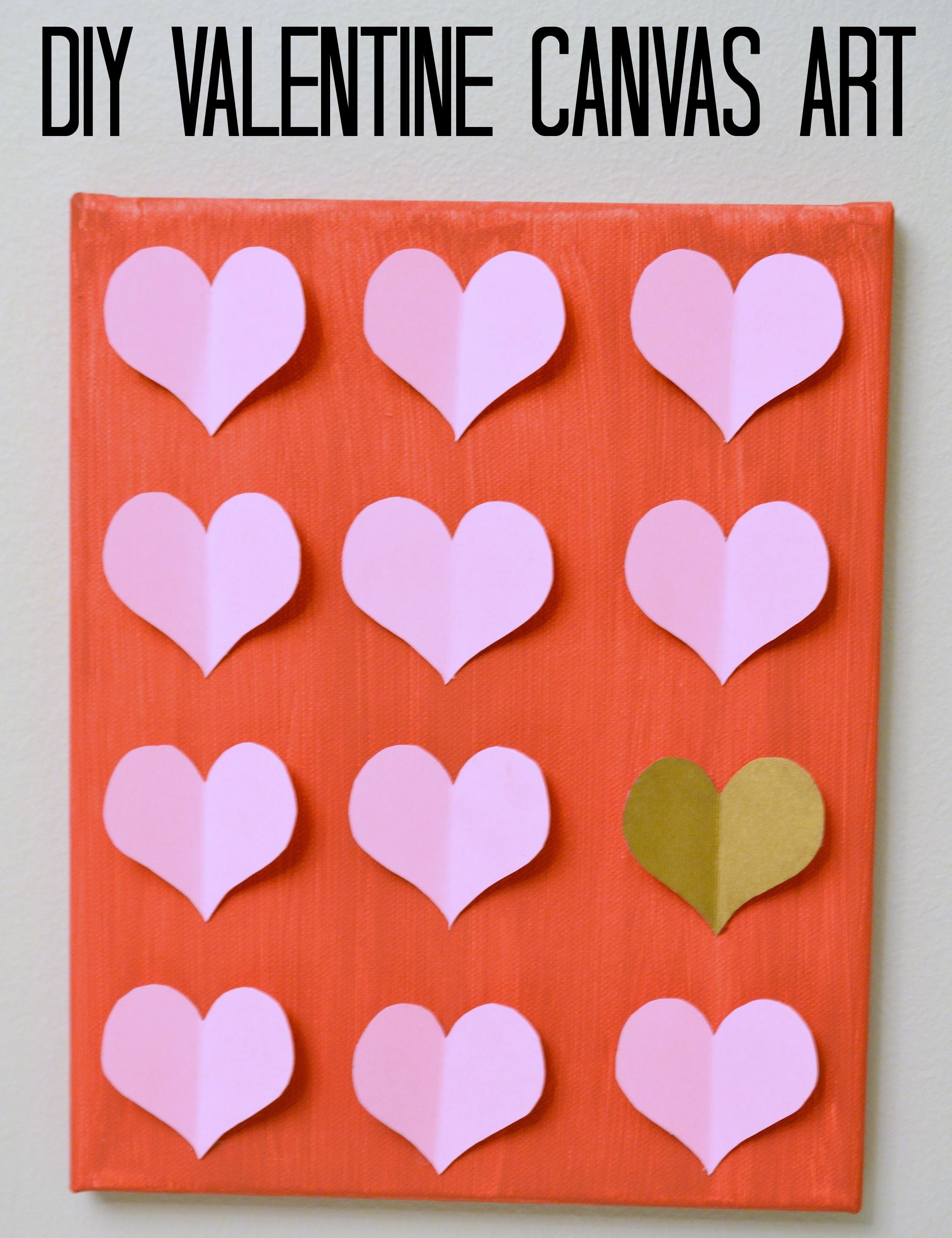 Diy Valentine Canvas Art Moms Without Answers