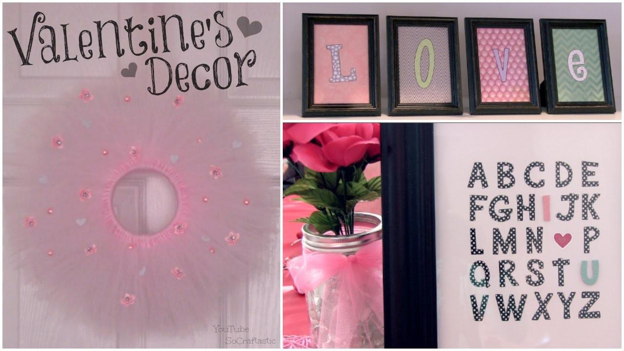 Diy Valentine Day Decor Room Decorations Wall Art