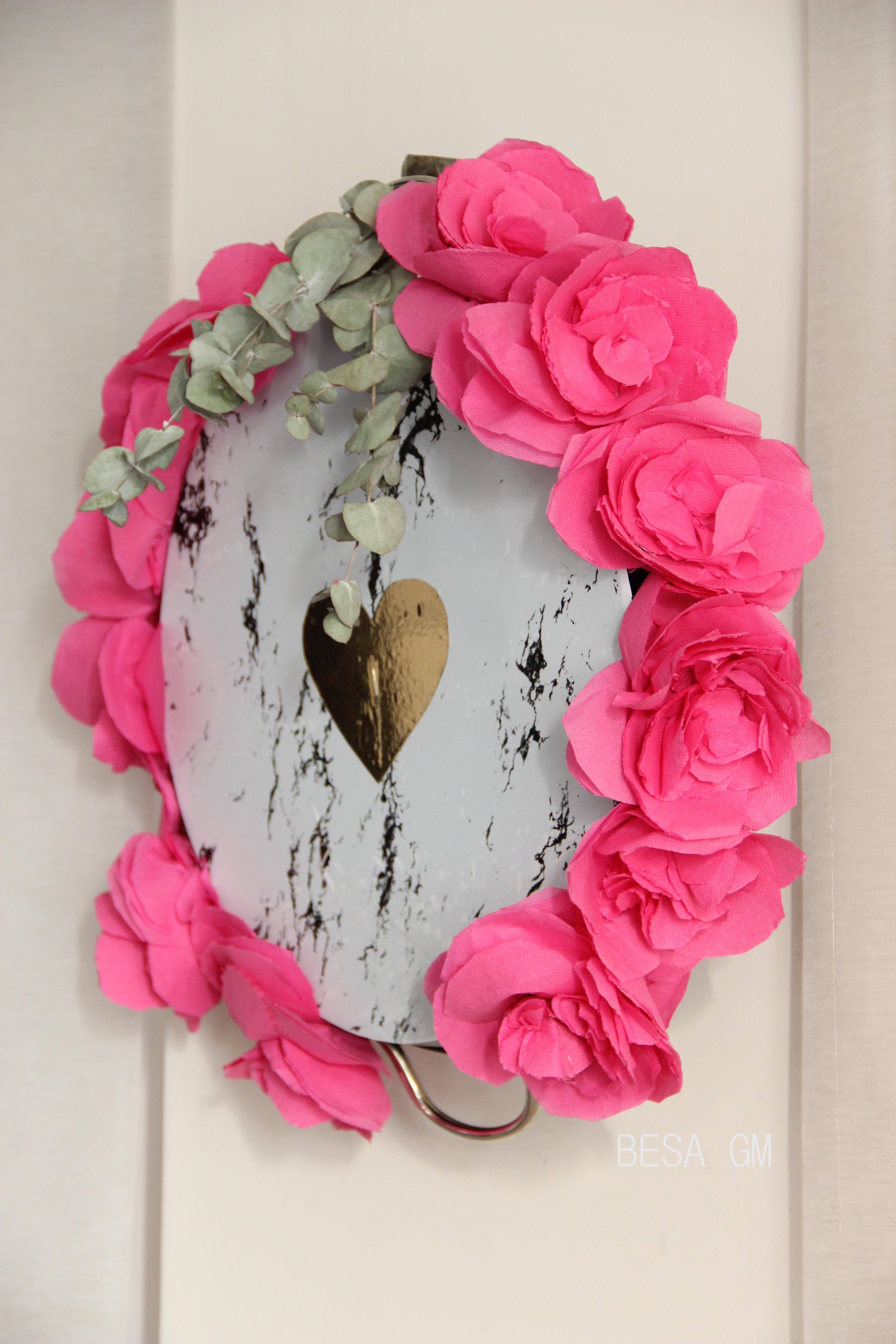 Diy Valentine Day Flower Wall Decor Besa
