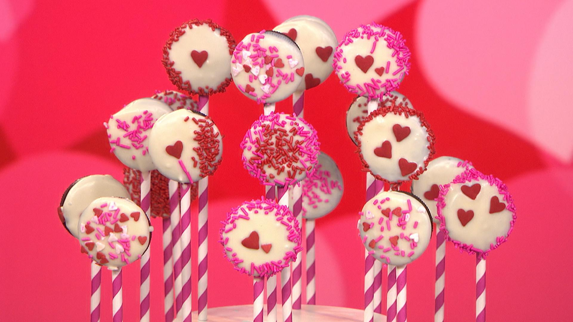 Diy Valentine Day Gifts Oreo Pops Kiss Canvas Today