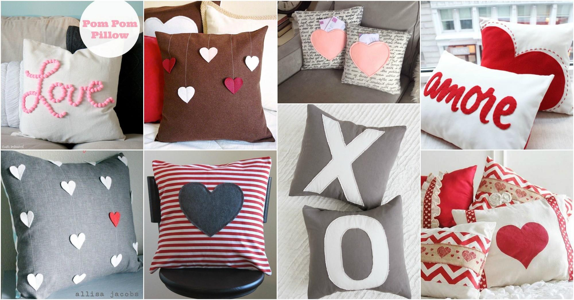Diy Valentine Day Pillows Cozy Welcoming