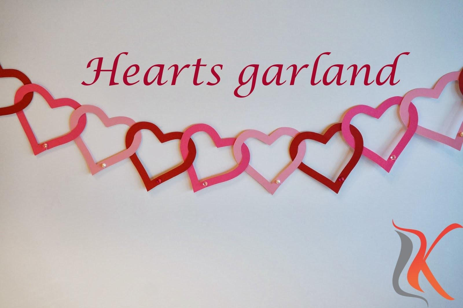 Diy Valentine Day Room Decorations Heart Garland