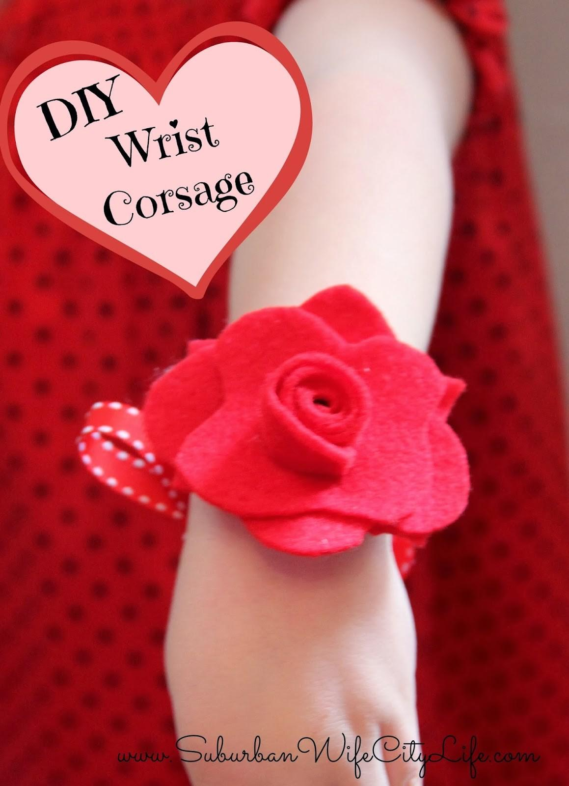 Diy Valentine Flower Corsage Suburban Wife City Life