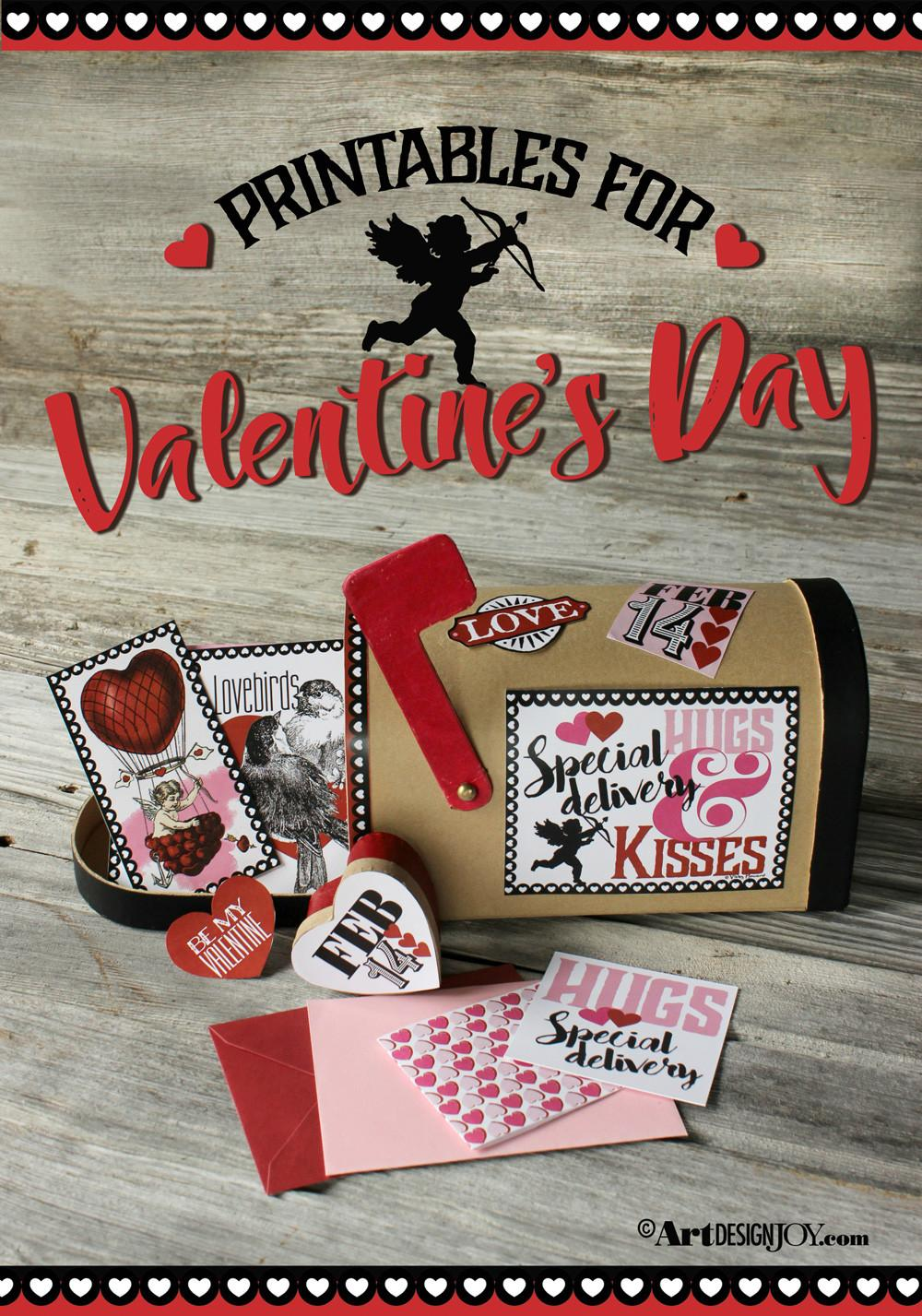 Diy Valentine Mailbox Printable Cards Project Art
