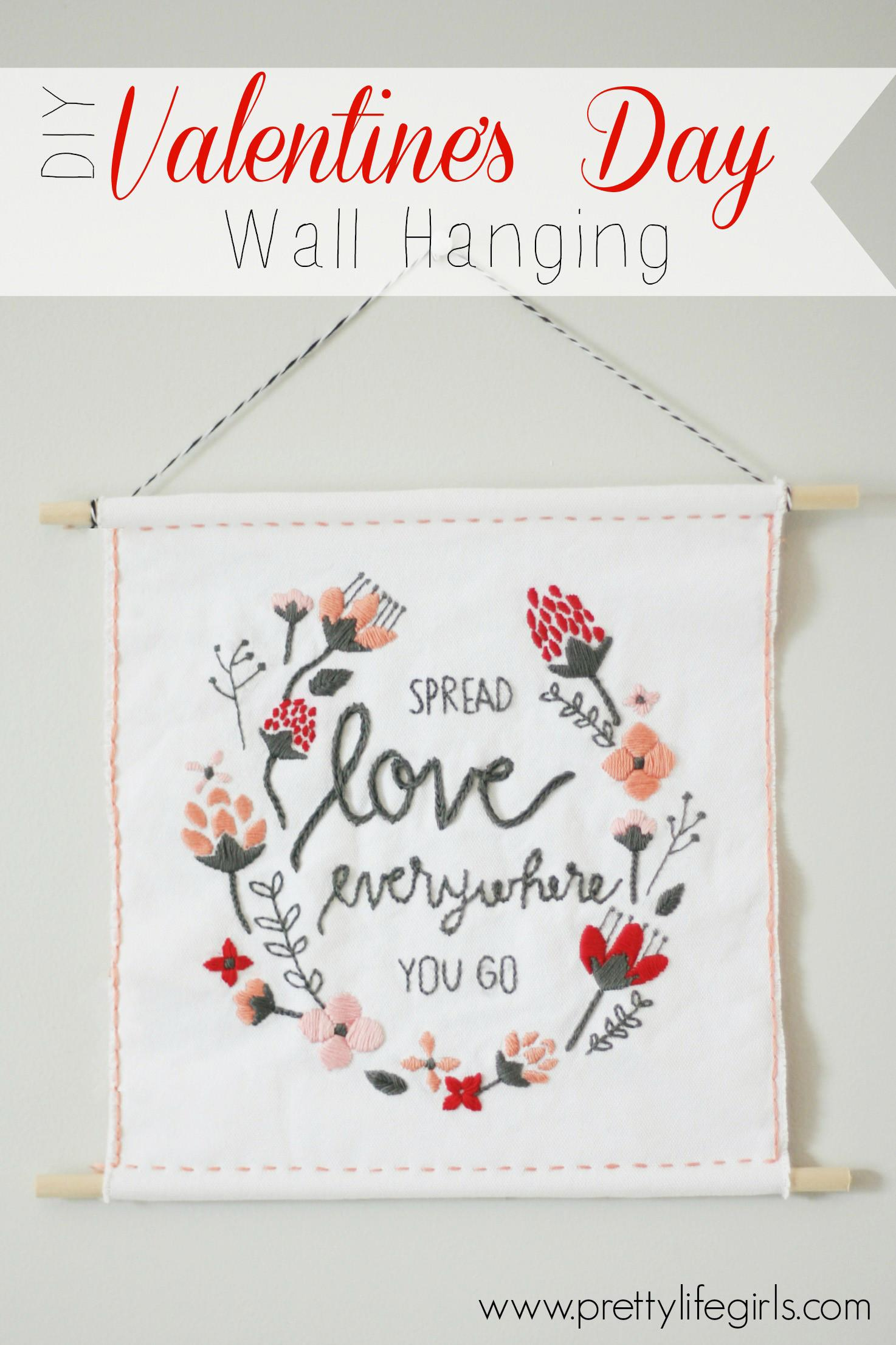 Diy Valentine Wall Hanging Create Bloglovin