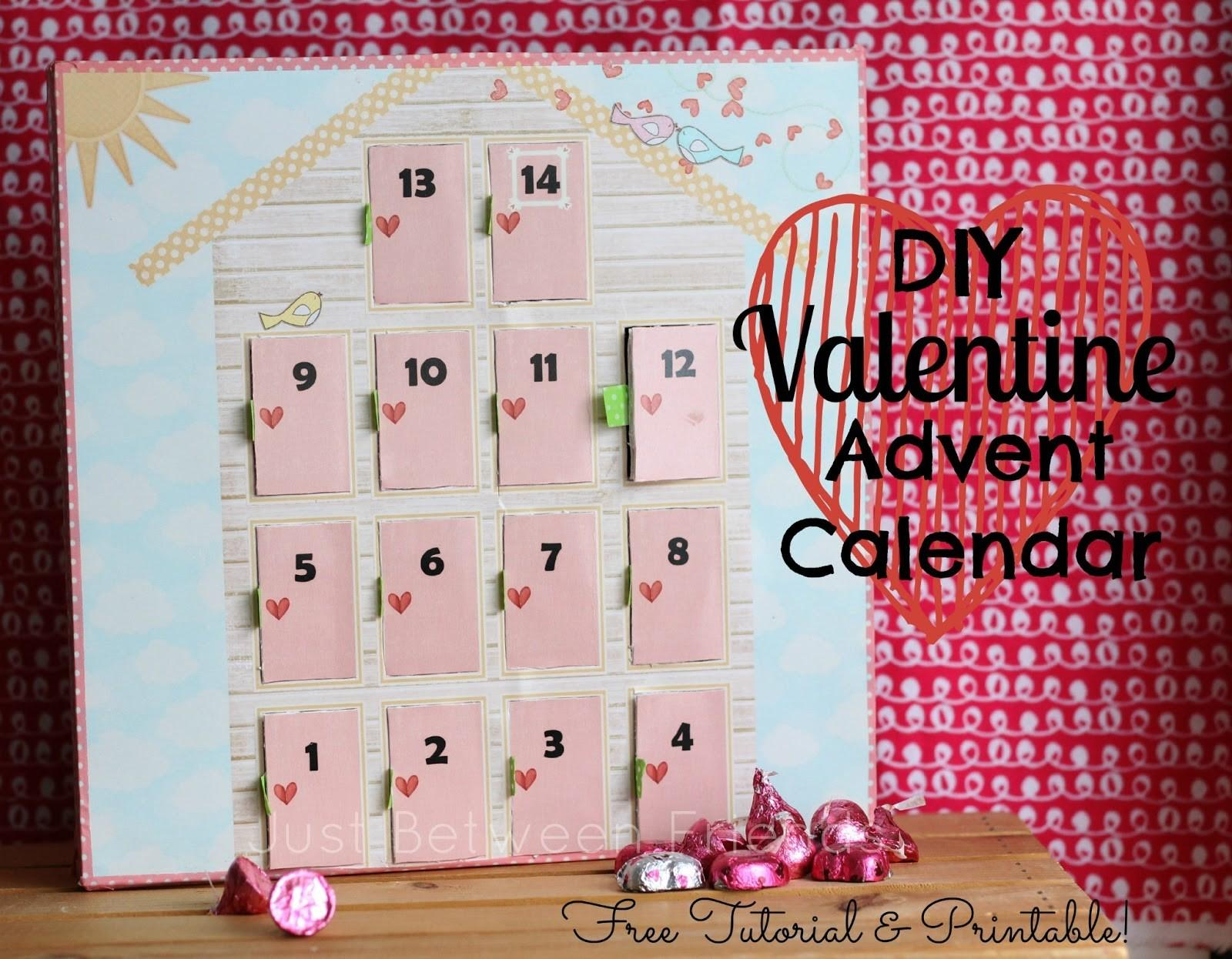 Diy Valentines Advent Calendar Just Between Friends