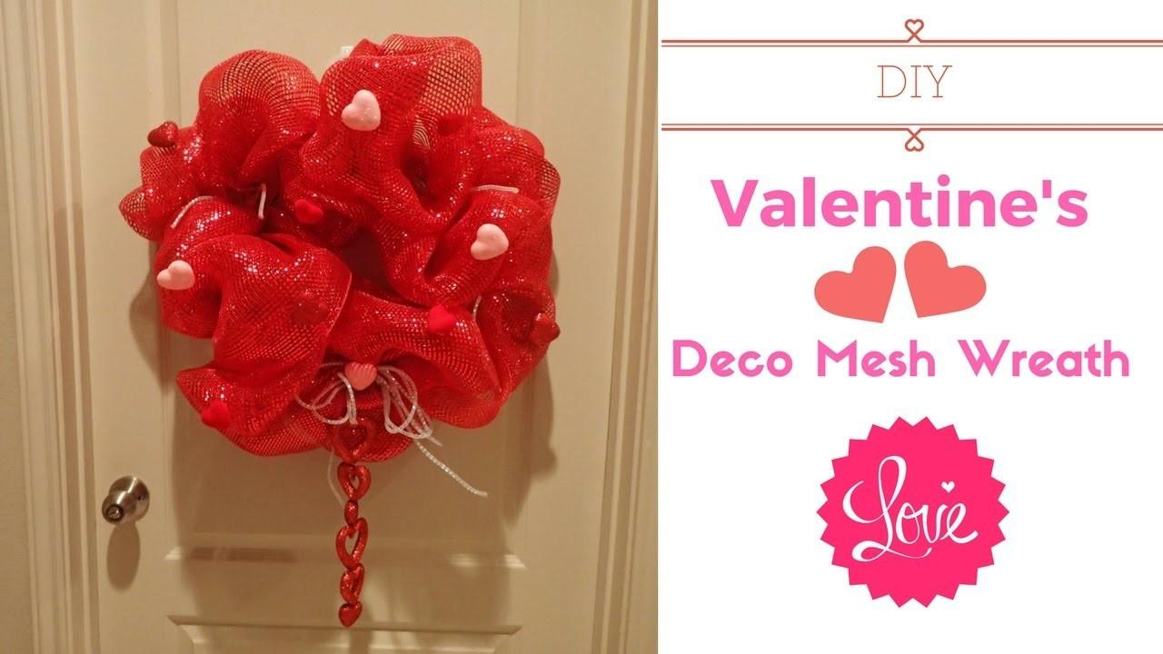 Diy Valentines Deco Mesh Wreath Crafts Projects