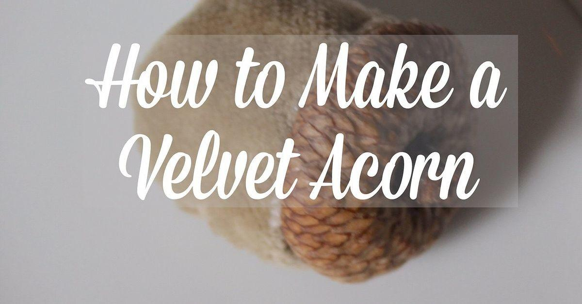 Diy Velvet Acorns Hometalk