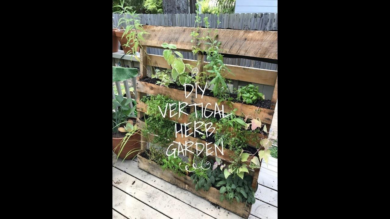 Diy Vertical Herb Garden Pallet Crafts Projects