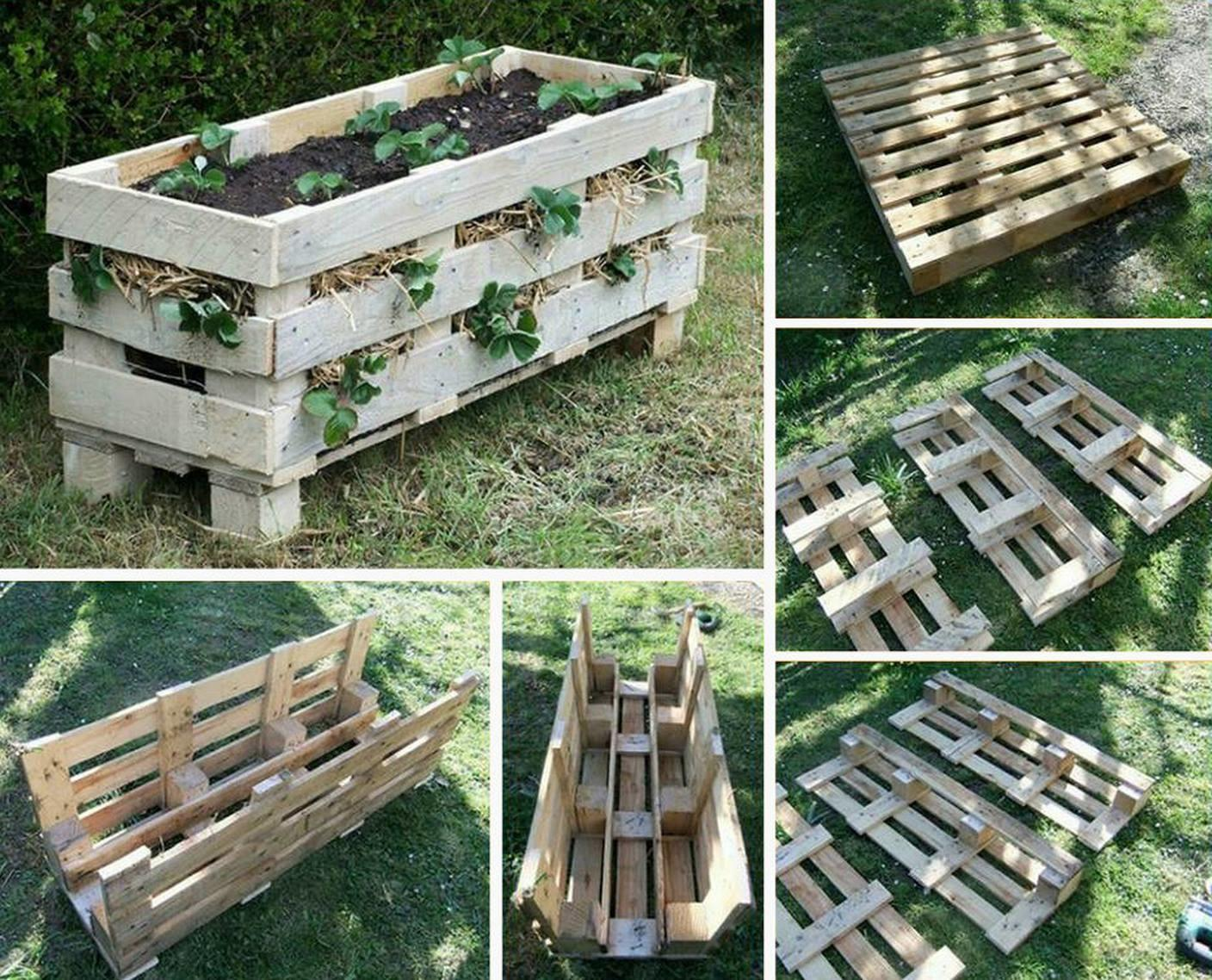 Diy Vertical Pallet Strawberry Planter