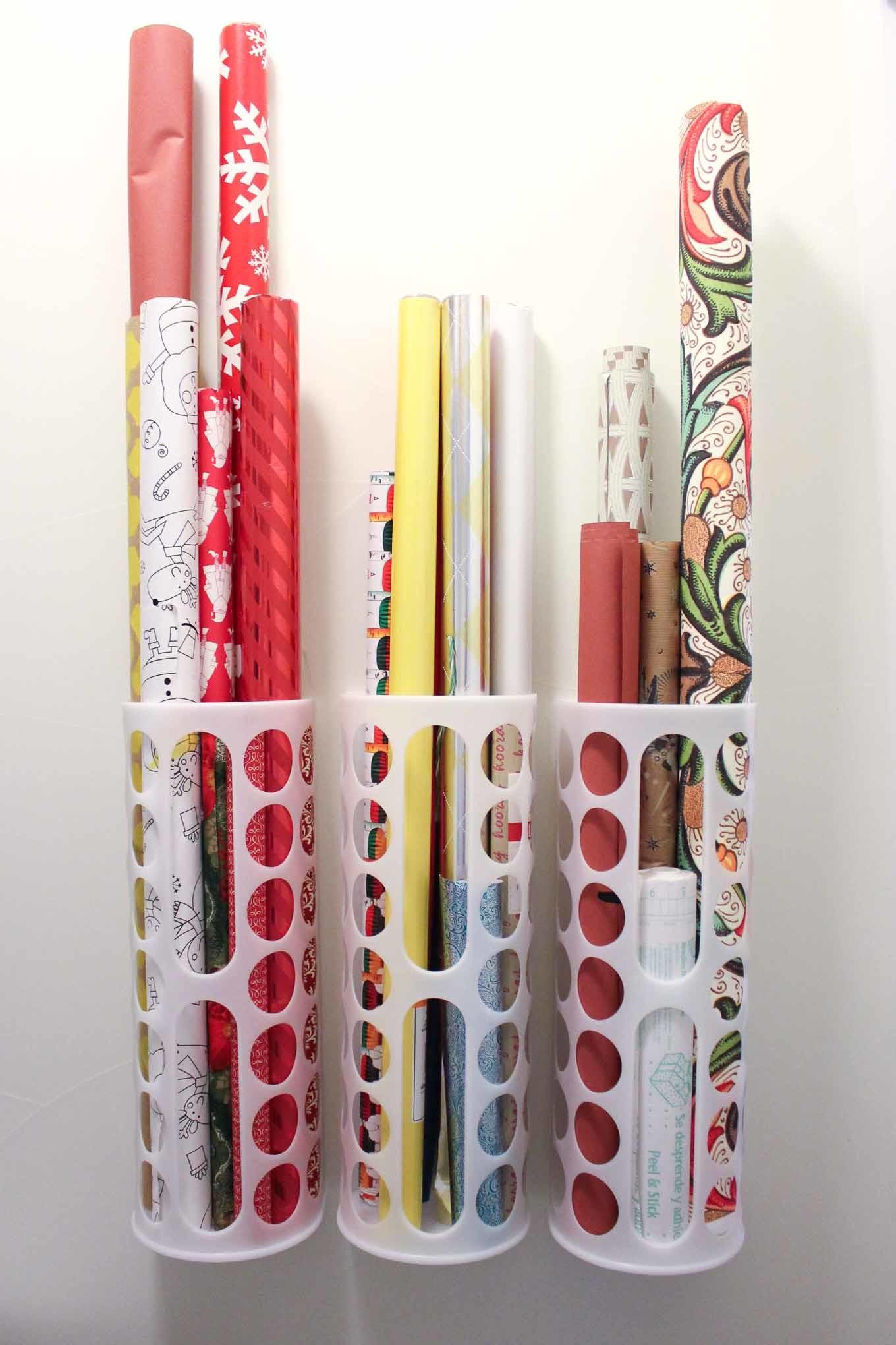 Diy Vertical Wrapping Paper Storage Idea Hack