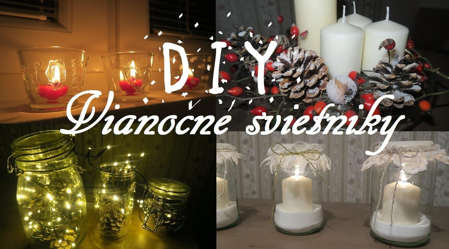 Diy Viano Svietniky Christmas Candle Holders