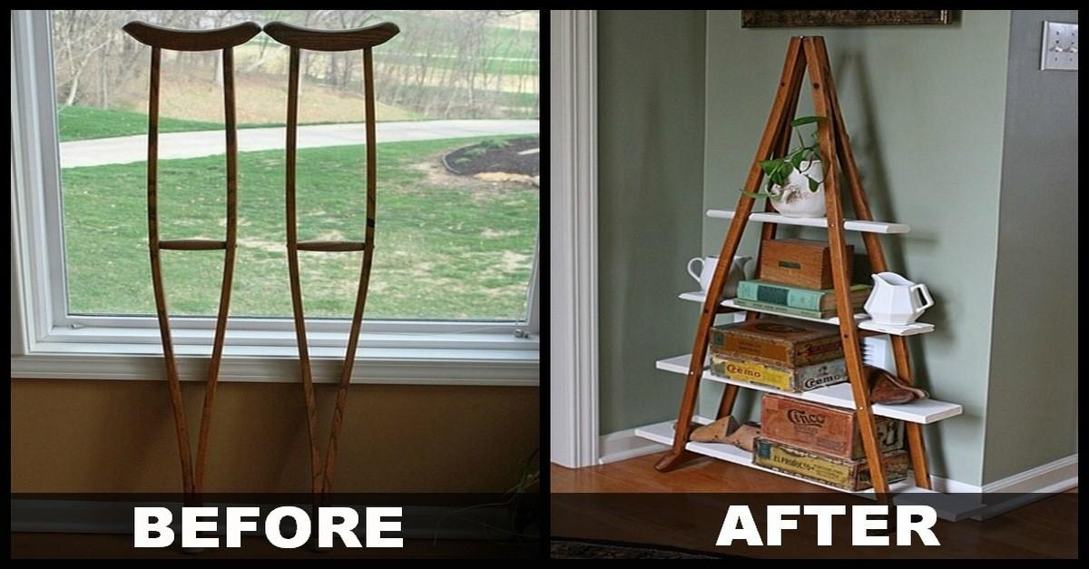 Diy Vintage Crutches Shelf Make