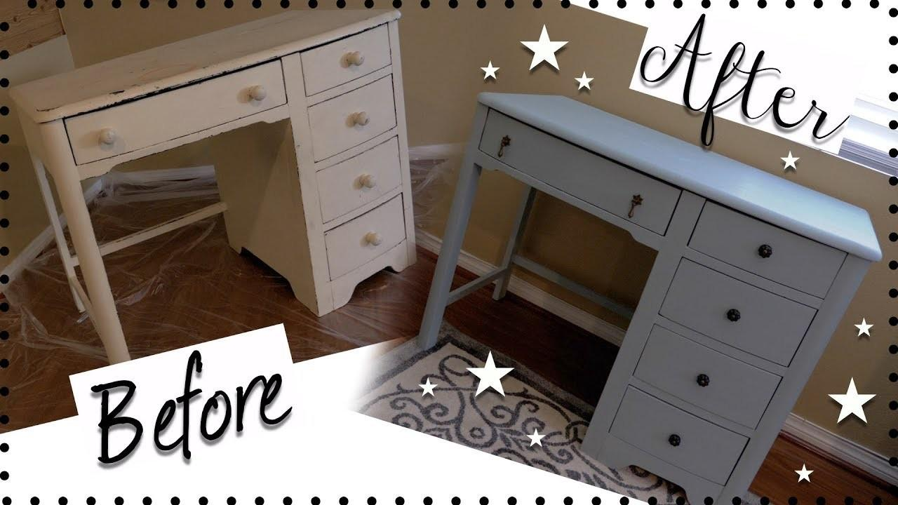 Diy Vintage Desk Makeover Chalk Paint Furniture