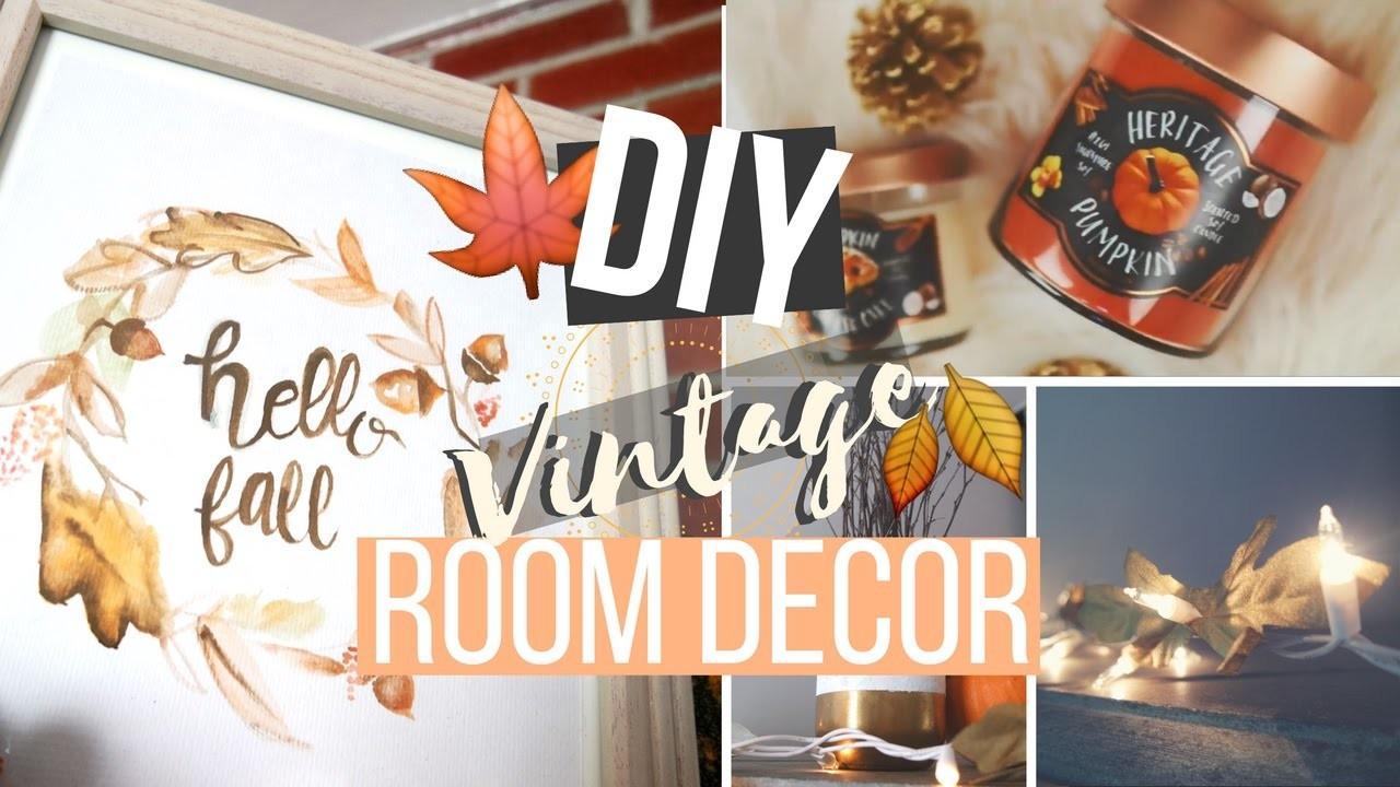 Diy Vintage Fall Room Decor Rustic Classic Inspired
