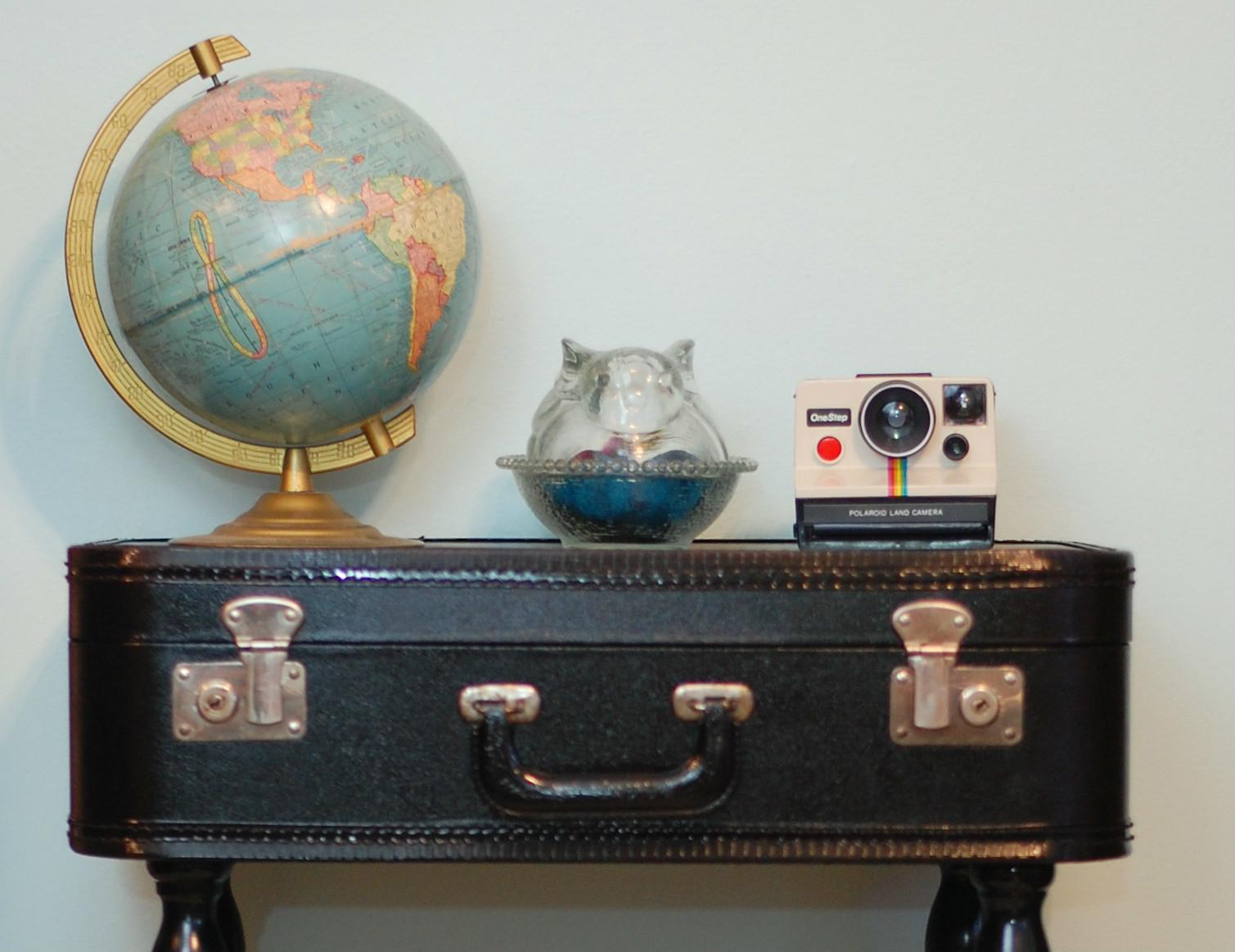 Diy Vintage Suitcase Table Stars Streetlights
