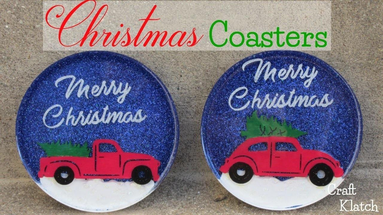 Diy Vintage Truck Christmas Tree Coasters Another